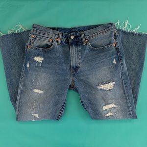 Levi's 511 distressed jeans, 34